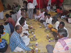 Prasadam after Ras lila dance