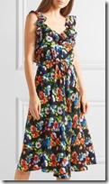 MSGM floral print silk midi dress
