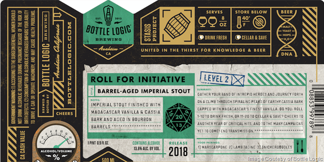 Bottle Logic On-Lien Sales Of Roll For Initiative 2018 Begin 3/11