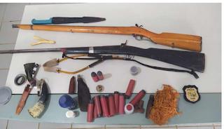 POLÍCIA CIVIL REALIZOU DUAS PRISÕES E ARMAS APREENDIDAS EM MONSENHOR TABOSA