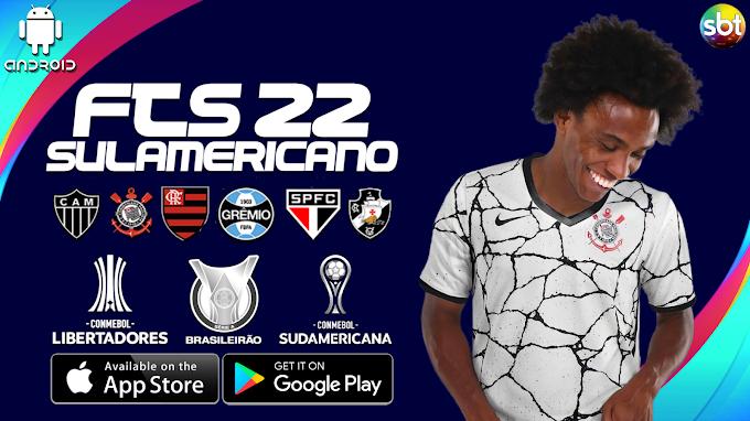 FTS 22 SUL-AMERICANO com BRASILEIRÃO ABCD, LIBERTADORES, SUDAMERICANA (FTS mod PES)