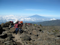 Kili Climb Day 3 - Porters working way too hard