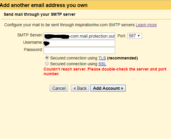 Send mail as: (Use Gmail to send from your other email