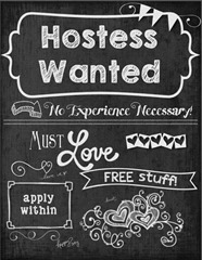 hostess wanted
