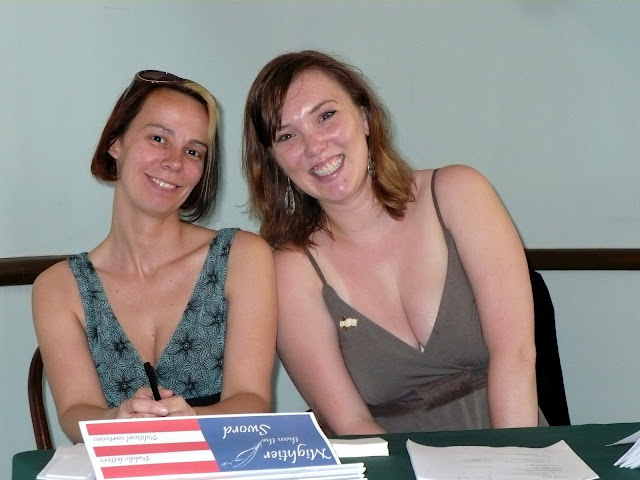 Gala 2008: Jen and Ruth at check in