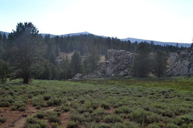 sudden line of granite below