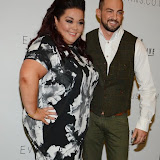 WWW.ENTSIMAGES.COM -    Lisa Reilly and Robin Windsor   arriving at    The Design Collective for Evans at The Freemasons Hall, LondonSeptember 16th 2014Show hosted by Arcadia Group owner Sir Philip Green as plus size retailer Evans makes its debut on the London Fashion Week schedule.                                                   Photo Mobis Photos/OIC 0203 174 1069