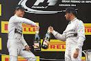 Hamlilton & Rosberg celebrate their 1-2 victory