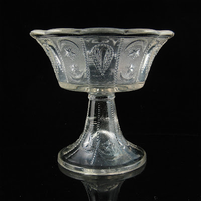EAPG Shrine or Orient or Jewel with Moon and Star Goblet Cooperative Glass 1880s
