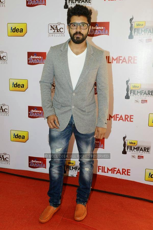Nivin Pauly during the 61st Idea Filmfare Awards South, held at Jawaharlal Nehru Stadium in Chennai, on July 12, 2014.