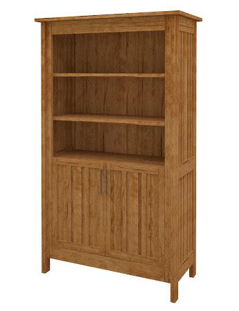 Syracuse Wooden Door Bookshelf in Como Maple