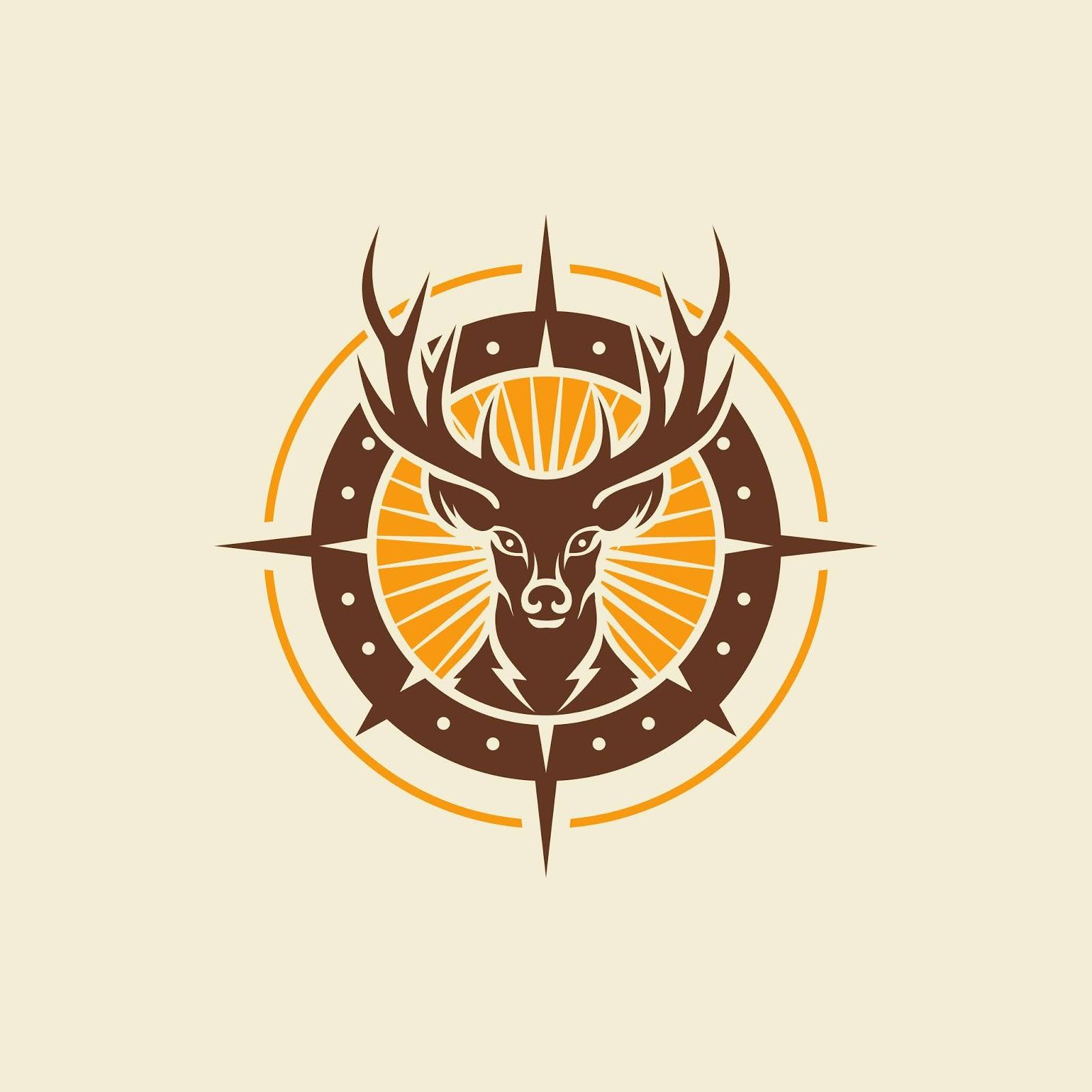 Wild Deer Vintage Logo Design Vector Free Download Vector CDR, AI, EPS and PNG Formats