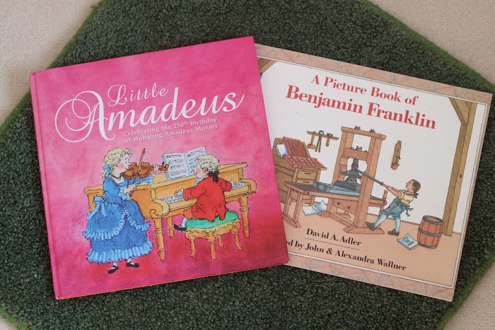 A picture book of Benjamin Franklin, little Amadeus, Mozart, children, biography Montessori , books children, biography