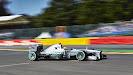 Lewis Hamilton racing his Mercedes W04