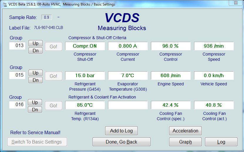 A/C parameters measured via VCDS - TDIClub Forums