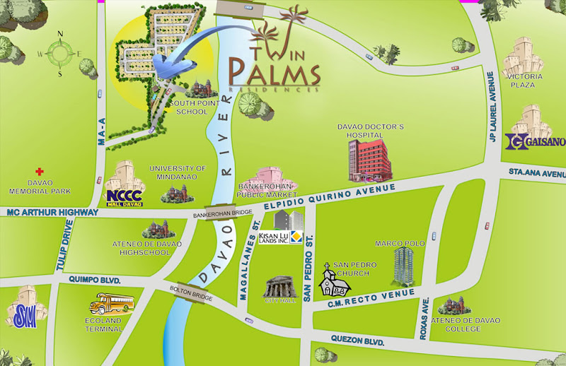 Twin Palms Residences Vicinity Map