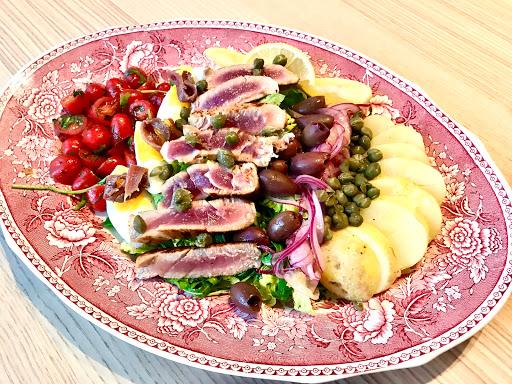 Niçoise salad with soy marinated fresh tuna and mustard vinaigrette