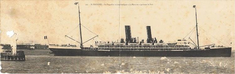 Vapor LA NAVARRE saliendo de Saint Nazaire. Fecha indeterminada. Colección Arturo Paniagua.jpg