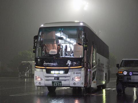 西鉄高速バス「ライオンズエクスプレス」 8545 下松SAにて