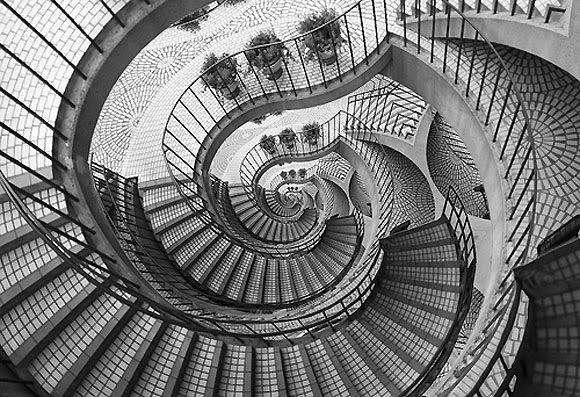 optical illusions sommers josh illusion dark stairs escher artist staircase drawing credit effect examples down