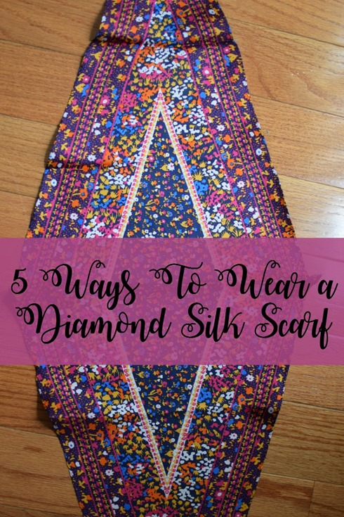 5 Ways To Wear a Diamond Silk Scarf
