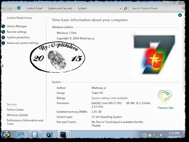 Windows 7 Elite X86 With Lastest Update x86 - الكاتب: v_pistolero