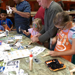 Home Depot Kids Crafts, Face Painting, and Planting Flowers