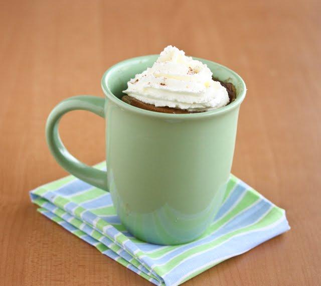Ginger Spice Latte Mug Cake