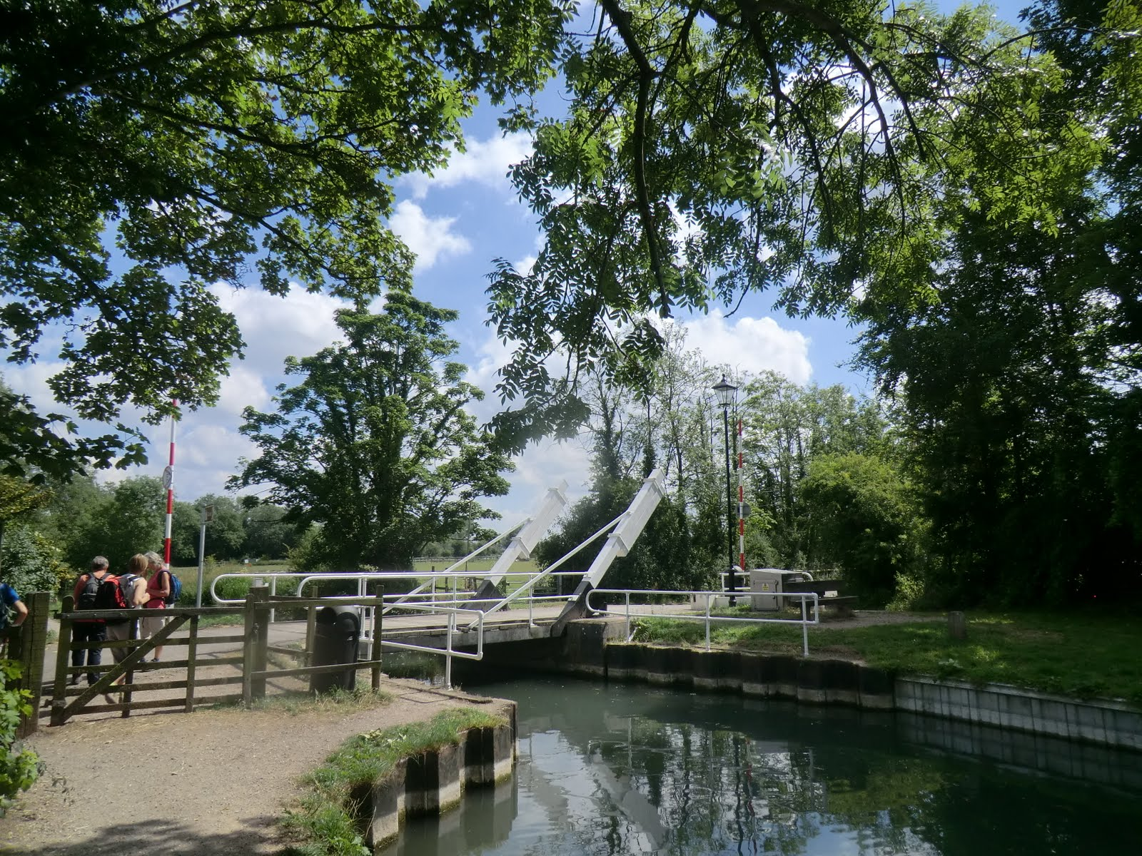 CIMG9620 Swing Bridge, Warnborough Green