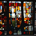 MJC de Corbeil-Essonnes : vitrail de Fernand Léger (détail)