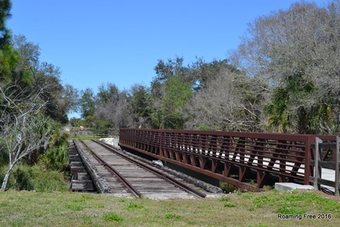 A section of original railroad track