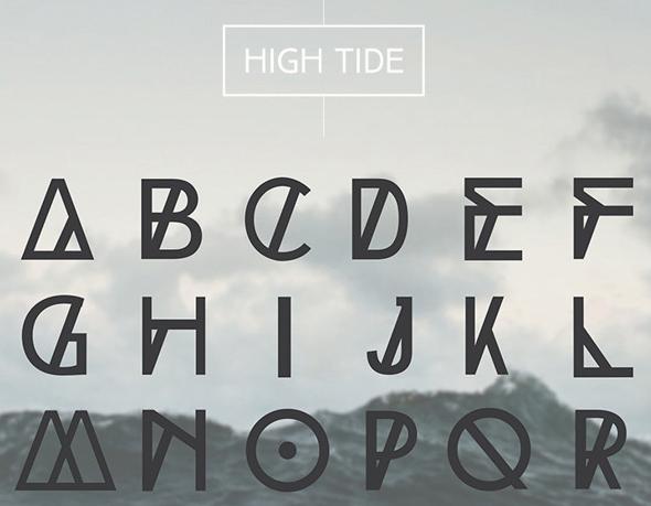 HIGH TIDE Free Fonts