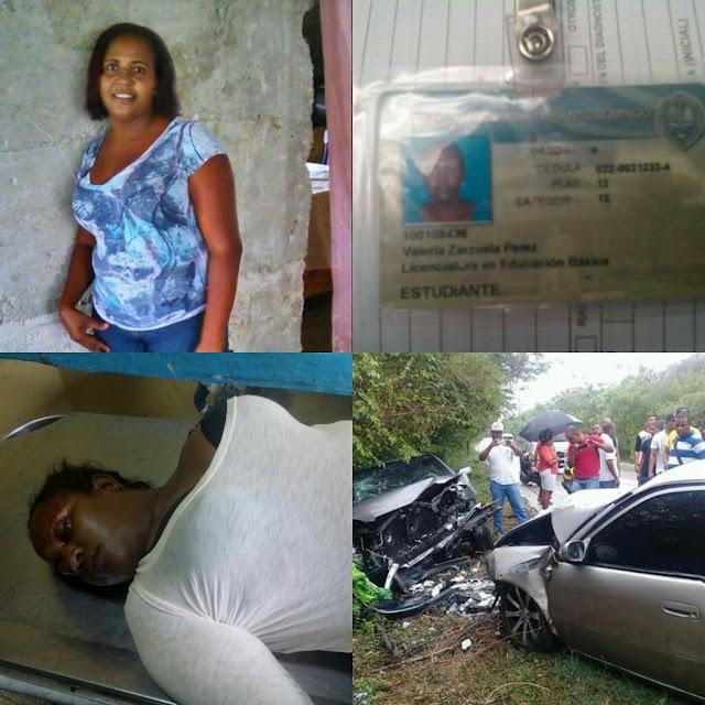 Muere estudiante de la UASD centro Barahona en un accidente en la carretera Cachon-Barahona