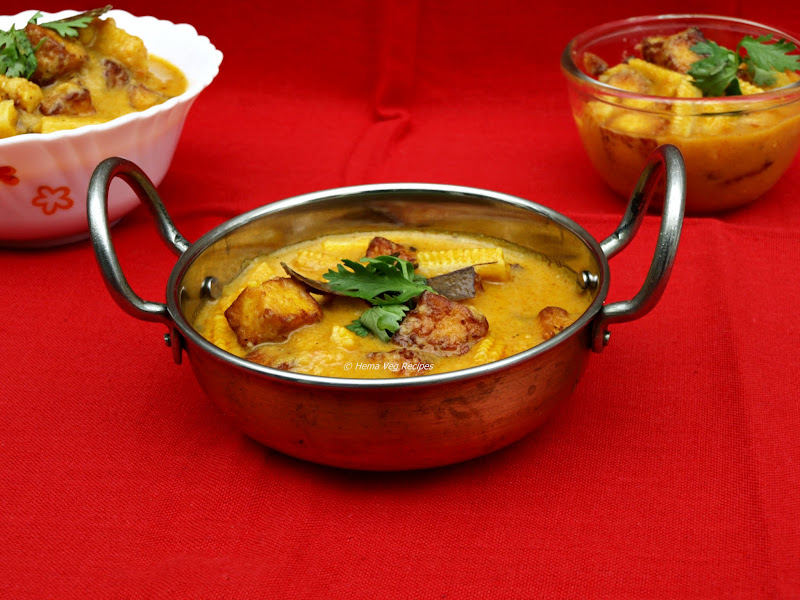 Paneer and Baby Corn Curry