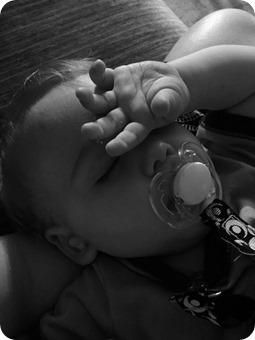 Sleeping Baby Henry 10 mo