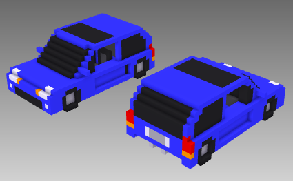 voxel car mid-engine hatchback
