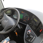 Het dashboard van de Mercedes Tourismo van Van Fraassen Traveling bus 462