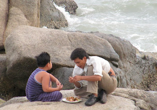Photo: Year 2 Day 19 - Supper on the Rocks for Father and Son