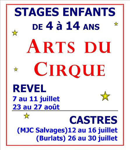 Stages de Cirque REVEL et CASTRES été 2021