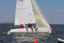 J/80 one-design sailboat- Flynn sailing to win J/80 JFest Houston Tx
