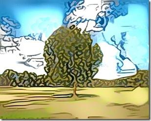 DeepDream_tree (Based on my sketch)