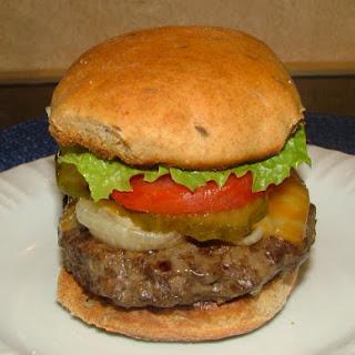 Rye Burger Buns ~ easy bread machine style.