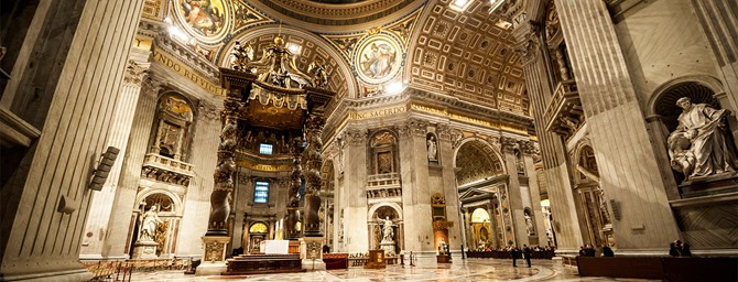 St. Peter's Basilica in Vatican inside
