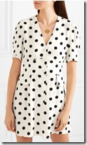 Rixo London Polka Dot Crepe Mini Dress