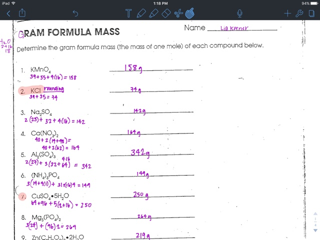 Gram Formula Mass Worksheet Answers Brain Ideas – Gram Formula Mass Worksheet Answers