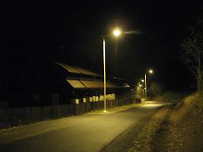 Photo: nasz dom w oświetleniu lamp ulicznych - listopad 2012r.
