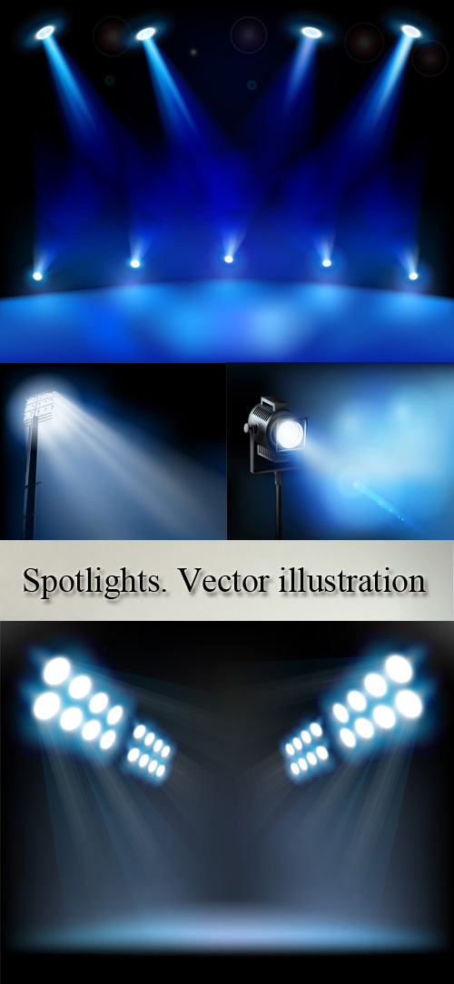 Stock: Spotlights. Vector illustration