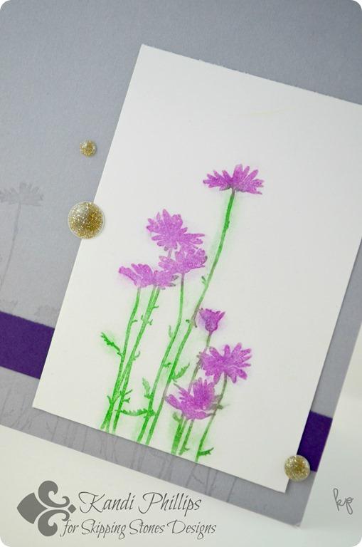 Purple Chalk Flowers Close Up