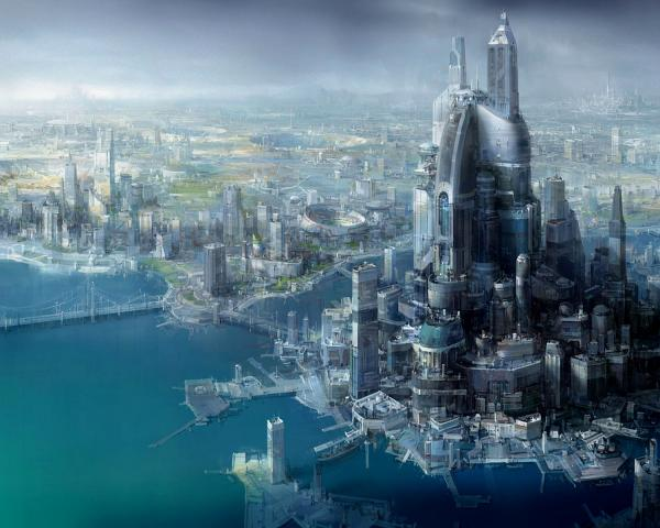 City Of On The Shores Of The Ocean, Magical Landscapes 1