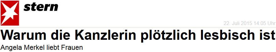 Angela Merkel liebt Frauen: Warum die Kanzlerin plötzlich lesbisch ist